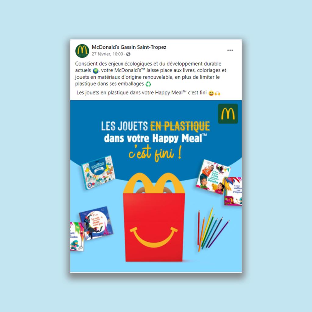 Happy Meal - Facebook - McDonald's Gassin Saint-Tropez