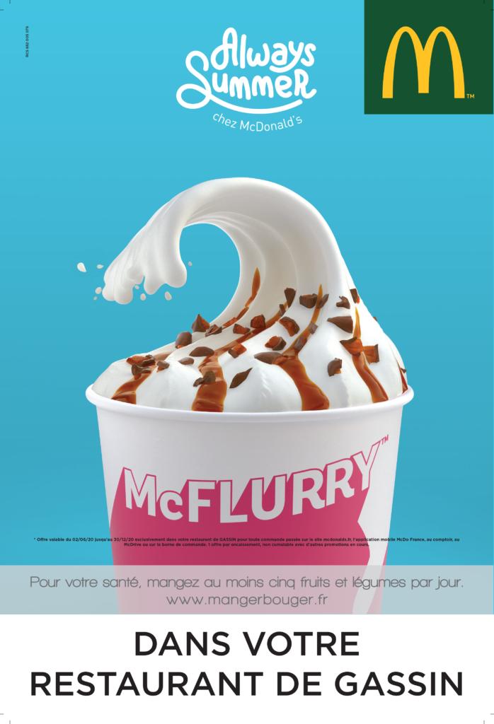 Claudie Lemaitre--Kartal ; affiche McFlurry - McDonald's Gassin Saint-Tropez
